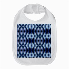 Blue White Diamond Pattern  Bib by Costasonlineshop