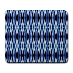 Blue White Diamond Pattern  Large Mousepads by Costasonlineshop