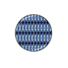 Blue White Diamond Pattern  Hat Clip Ball Marker (4 Pack) by Costasonlineshop