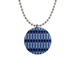 Blue White Diamond Pattern  Button Necklaces by Costasonlineshop