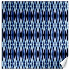 Blue White Diamond Pattern  Canvas 20  X 20   by Costasonlineshop