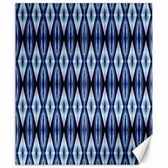 Blue White Diamond Pattern  Canvas 20  X 24   by Costasonlineshop