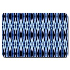 Blue White Diamond Pattern  Large Doormat  by Costasonlineshop