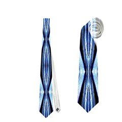 Blue White Diamond Pattern  Neckties (two Side)