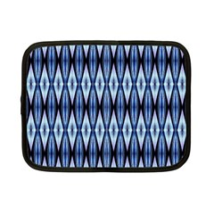 Blue White Diamond Pattern  Netbook Case (small)  by Costasonlineshop