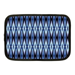 Blue White Diamond Pattern  Netbook Case (medium)  by Costasonlineshop