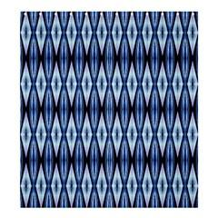 Blue White Diamond Pattern  Shower Curtain 66  X 72  (large)  by Costasonlineshop