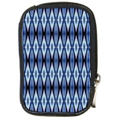 Blue White Diamond Pattern  Compact Camera Cases