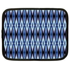 Blue White Diamond Pattern  Netbook Case (xl)  by Costasonlineshop