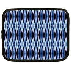 Blue White Diamond Pattern  Netbook Case (xxl)