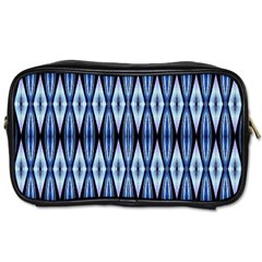 Blue White Diamond Pattern  Toiletries Bags 2 Side by Costasonlineshop