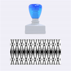 Blue White Diamond Pattern  Rubber Stamps (medium)  by Costasonlineshop
