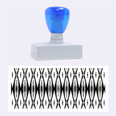 Blue White Diamond Pattern  Rubber Stamps (large) by Costasonlineshop