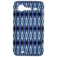 Blue White Diamond Pattern  HTC Incredible S Hardshell Case  by Costasonlineshop