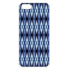 Blue White Diamond Pattern  Apple Iphone 5 Seamless Case (white)