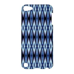 Blue White Diamond Pattern  Apple Ipod Touch 5 Hardshell Case by Costasonlineshop