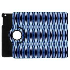 Blue White Diamond Pattern  Apple Ipad Mini Flip 360 Case by Costasonlineshop
