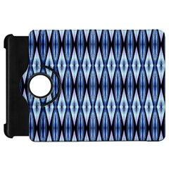 Blue White Diamond Pattern  Kindle Fire Hd Flip 360 Case
