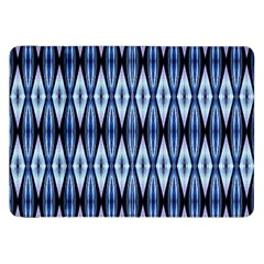 Blue White Diamond Pattern  Samsung Galaxy Tab 8 9  P7300 Flip Case by Costasonlineshop