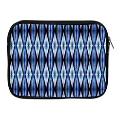 Blue White Diamond Pattern  Apple Ipad 2/3/4 Zipper Cases