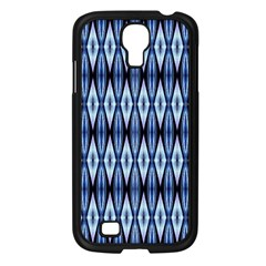 Blue White Diamond Pattern  Samsung Galaxy S4 I9500/ I9505 Case (black)