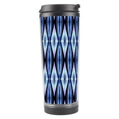Blue White Diamond Pattern  Travel Tumblers by Costasonlineshop