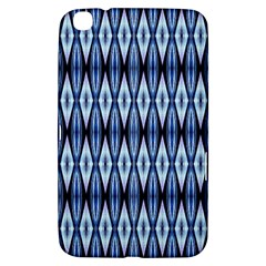 Blue White Diamond Pattern  Samsung Galaxy Tab 3 (8 ) T3100 Hardshell Case  by Costasonlineshop