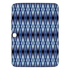 Blue White Diamond Pattern  Samsung Galaxy Tab 3 (10 1 ) P5200 Hardshell Case