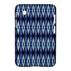 Blue White Diamond Pattern  Samsung Galaxy Tab 2 (7 ) P3100 Hardshell Case