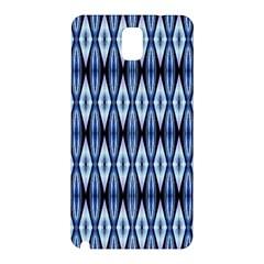 Blue White Diamond Pattern  Samsung Galaxy Note 3 N9005 Hardshell Back Case by Costasonlineshop