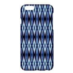 Blue White Diamond Pattern  Apple Iphone 6 Plus/6s Plus Hardshell Case by Costasonlineshop