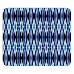 Blue White Diamond Pattern  Double Sided Flano Blanket (small)  by Costasonlineshop