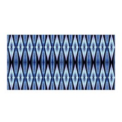 Blue White Diamond Pattern  Satin Wrap by Costasonlineshop