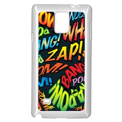 Comic Book Sounds Samsung Galaxy Note 4 Case (white) by ComicBookPOP