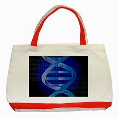 Dna Identity Classic Tote Bag (red) by ScienceGeek
