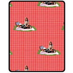 Pittie Picnic 2011 Double Sided Fleece Blanket (medium)  by ButThePitBull