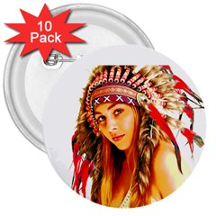 Indian 26 3  Buttons (10 Pack)  by indianwarrior