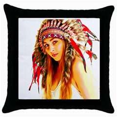 Indian 26 Throw Pillow Case (black) by indianwarrior