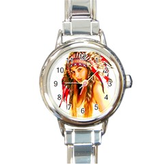 Indian 26 Round Italian Charm Watch by indianwarrior