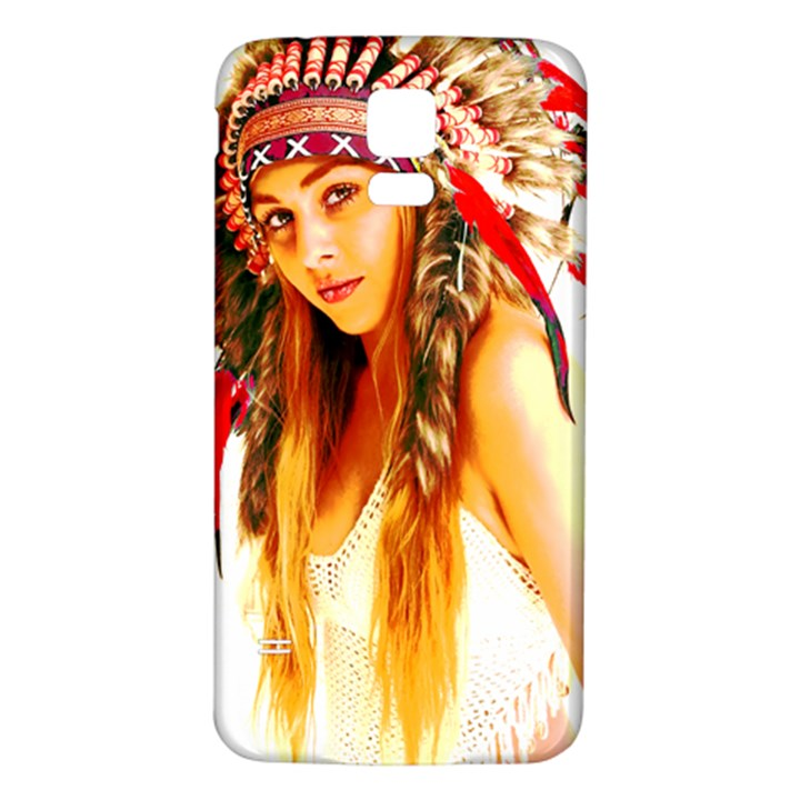 Indian 26 Samsung Galaxy S5 Back Case (White)
