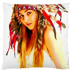 Indian 26 Large Flano Cushion Case (one Side) by indianwarrior