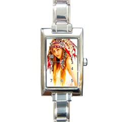 Indian 26 Rectangle Italian Charm Watch by indianwarrior
