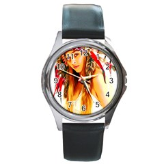 Indian 26 Round Metal Watch by indianwarrior