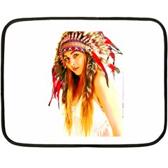 Indian 26 Fleece Blanket (mini) by indianwarrior