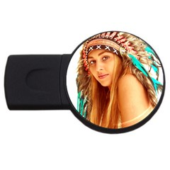 Indian 27 Usb Flash Drive Round (2 Gb)  by indianwarrior
