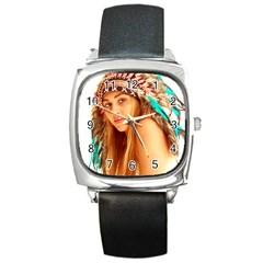 Indian 27 Square Metal Watch by indianwarrior
