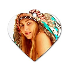 Indian 27 Dog Tag Heart (one Side) by indianwarrior
