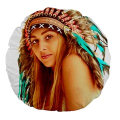 Indian 27 Large 18  Premium Round Cushions by indianwarrior