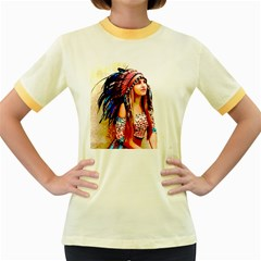 Indian 22 Women s Fitted Ringer T Shirts by indianwarrior