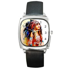 Indian 22 Square Metal Watch by indianwarrior